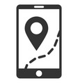 Mobile map navigation flat icon vector image