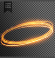 neon transparent golden light effect background vector image vector image