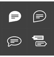 New Speech bubble icons on black background vector image