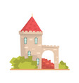 old stone house tower ancient architecture vector image vector image