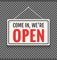open sign business shop icon we are vector image
