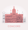 outline concord skyline with landmarks vector image vector image