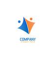 partnership logo design vector image vector image
