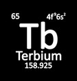 periodic table element terbium icon vector image vector image