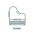 piano line icon linear concept outline vector image vector image