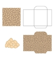 Pumpkin seeds packaging design kit Recycled paper vector image vector image
