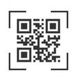 qr code sample for smartphone scanning vector image vector image