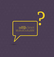 Question mark icon vector image vector image