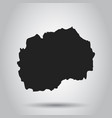 republic of macedonia map black icon on white vector image