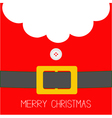 Santa Claus Coat button and yellow belt Beard fur vector image vector image