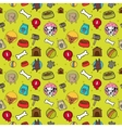 Seamless dogs pattern vector image