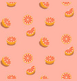 seamless fruit pattern with grapefruits vector image vector image