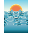 Seascape abstract background with sunlight color vector image vector image