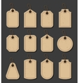 set craft tags paper labels in vitage style vector image vector image