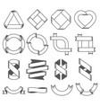 set empty emblems ribbons design elements vector image vector image