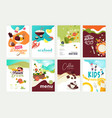 set menu and brochure design templates vector image vector image