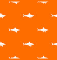 shark fish pattern seamless vector image vector image