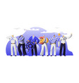ship crew male characters in uniform captain vector image