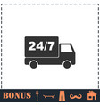 shipping icon flat vector image vector image