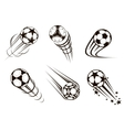 Soccer and football emblems vector image vector image