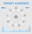 target audience infographic with icons contains