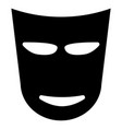 theater mask the black color icon vector image vector image