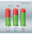 trading cylindrical bars infographic vector image vector image