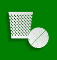 trash sign paper whitish vector image vector image