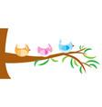 tree with bird vector image