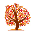 Tree with ripe apples harvest season theme Fruitf vector image vector image