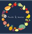 twenty five icons of fresh fruits vector image