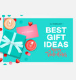 valentines day sale banner best gift ideas sweet vector image vector image
