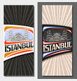 vertical layouts for istanbul vector image vector image