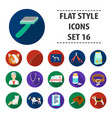 veterinary clinic set icons in flat style big vector image vector image