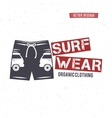 Vintage Surfing Wear stamp design Surf Clothing vector image vector image