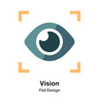 vision flat icon vector image vector image