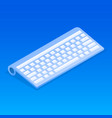 wireless keyboard icon isometric style vector image