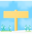 Wooden pointer spring vector image vector image
