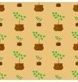 Flower Pot Seamless Pattern vector image