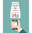 Responsive web design of mobile application vector image