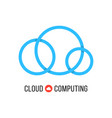 cloud computing with blue cloud from circles vector image