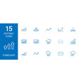 15 forecast icons vector image vector image