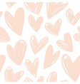 abstract hearts simple pattern seamless vector image vector image