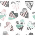 abstract memphis seamless pattern with hearts vector image vector image