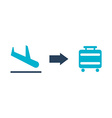 airport design vector image vector image