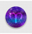 astrological symbol of aries abstract shiny vector image