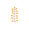 autumn plant branch with orange leaves - seasonal vector image vector image