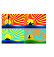 Background with water sports vector image vector image