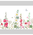 beautiful horizontal seamless floral vector image vector image
