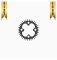 bicycle sprocket flat icon vector image vector image
